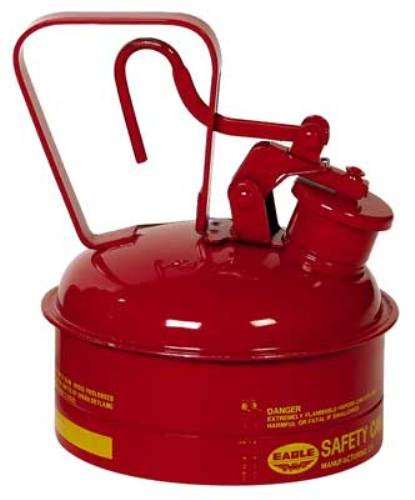 Eagle UI-4-S Red Galvanized Steel Type I Gas Safety Can, 2 quart Capacity, 8.75