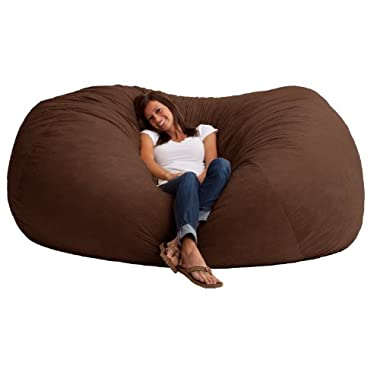 Big Joe 7-Foot XXL Fuf in Comfort Suede, Espresso