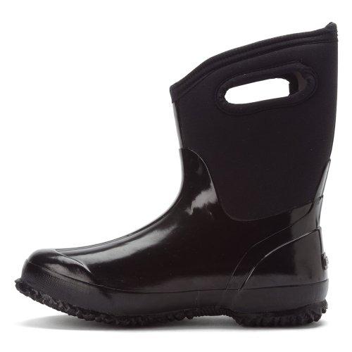 Womens Bogs Mid Classic Noir Rubber Handle Boots 60156 PwHAqOw