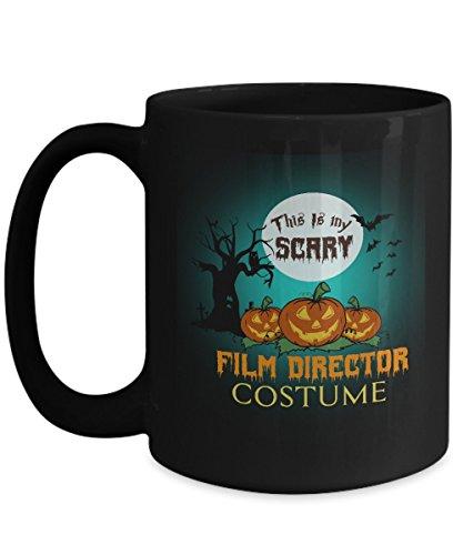 Film Director Costume Black Coffee Mug 15oz Halloween-This Is My Scary Film Director Costume For Yourself, Colleague Who Are Film Director Costume On Halloween ()