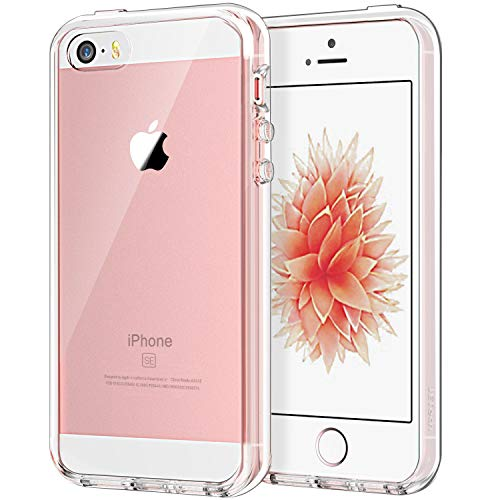 Cell Phone Skin Cover - JETech Case for Apple iPhone SE 5S 5, Shock-Absorption Bumper Cover, Anti-Scratch Clear Back, Crystal Clear