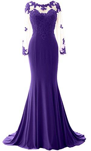 Long Mermaid Sleeve Elegant Prom Party Wedding Regency MACloth Formal Gown Dress Jersey w1qEtnx