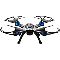 Flymemo H29G 2.4G 4CH 6-Axis Gyro 5.8G Real-Time Transmission Strong Power LED Lights CF Mode Automatic Return RTF RC Quadcopter with HD 2MP Camera,Blue