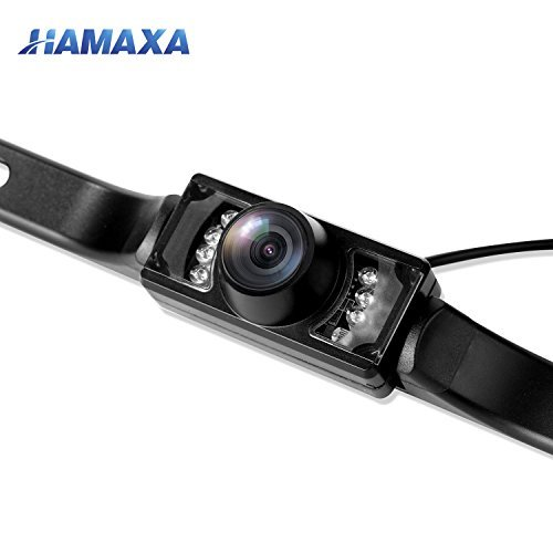 - Hamaxa Universal Waterproof High Definition 170° Wide Viewing Angle License Plate Car Rear View Backup Camera Color CCD Vehicle Camera Reverse Parking Blind Spot Camera 7 Infrared Night Vision LED