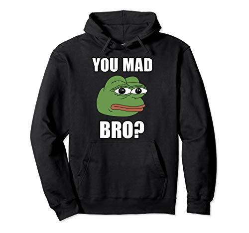 Troll Face Hoodie You Mad Bro Frog SJW Meme Triggered Gift
