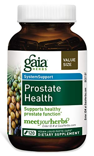 Gaia Herbs Prostate Health, Vegan Liquid Capsules, 120 Count – Supplement for Prostate Support and Healthy Male Hormone Balance, Saw Palmetto Extract Herbal Complex