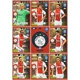 Panini FIFA 365 Adrenalyn XL 2017 AFC Ajax Logo Badge and Team Mates Trading Cards