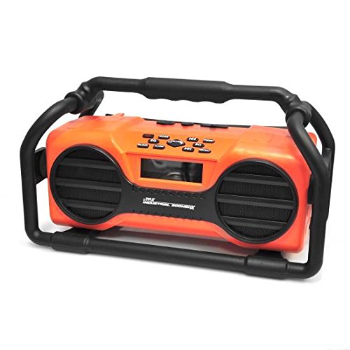 Pyle Industrial Water Resistant Rechargeable AUX Orange