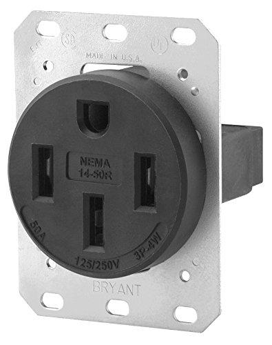 Nema 14 50r >> Bryant Electric 9450fr 50 Amp 125 250v Nema 14 50r Flush Straight