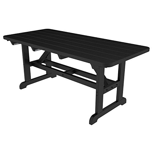 POLYWOOD Park Harvester Picnic Table Finish: Black (Polywood Benches Picnic Table With)