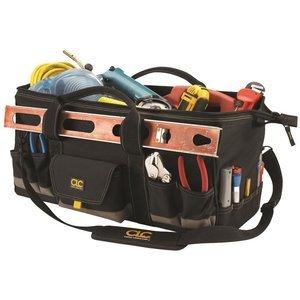Custom LeatherCraft 1164 32 Pocket - 24-Inch Megamouth Tote Bag (Custom Tote compare prices)