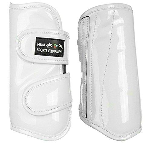 White L White L Hkm 551514 Dressage Wraps – Glossy