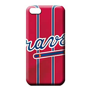 iphone 5 5s Abstact Scratch-free pattern cell phone carrying skins atlanta braves mlb baseball