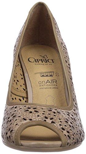 Caprice 29300 Dame Pip-toe Pumps Brun (sand / 355) EKxDP6