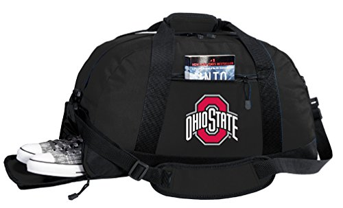 Broad Bay NCAA Ohio State University Duffel Bag - OSU Buckeyes Gym Bags w/SHOE POCKET