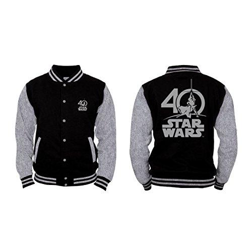 Star Wars - Logo 40 Years Herren College-Jacke - Schwarz, Große:XXL