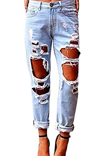 Boyfriend Denim Jeans - 5