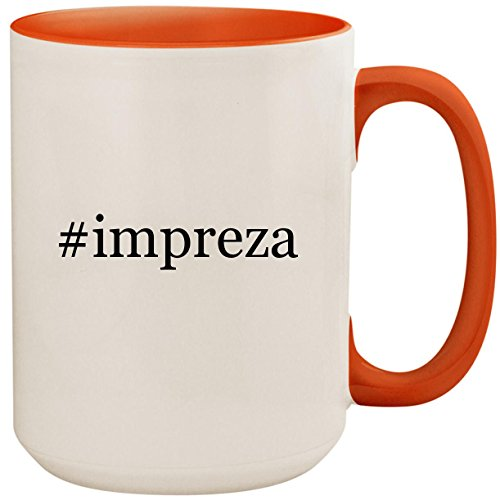 #impreza - 15oz Ceramic Colored Inside and Handle Coffee Mug Cup, Orange