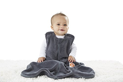 Gunapod Sleep Sack Unisex Fleece Wearable Blanket Baby Sleeping Bag, Charcoal Grey
