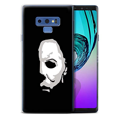 STUFF4 Gel TPU Phone Case/Cover for Samsung Galaxy Note 9/N960 / Michael Myers Inspired Art Design/Horror Movie Art Collection -