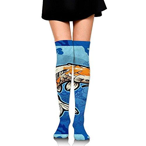 3D Printing Graffiti Knee High Socks Adult Unisex Koi Fish Stockings Socks Long Colorful For Man And Woman Leg - Machine Printing Sunglasses