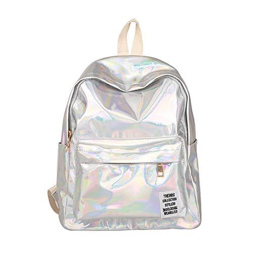 - Pengy Fashion Girl Laser Backpack Bling Glitter PU Leather Shining Shoulder Bag Vintage School Daypacks