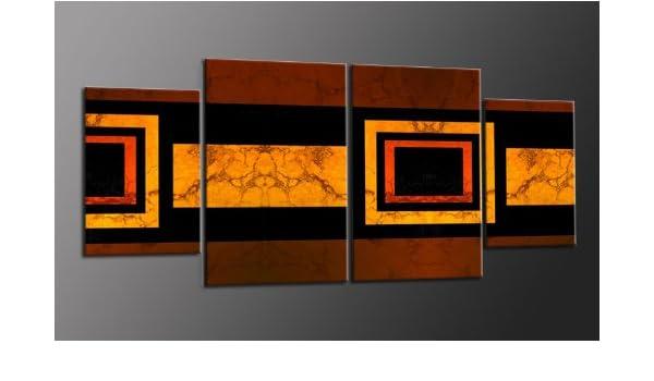 Impresión sobre lienzo TOP 4 imágenes Art-Nr. M42006 CUBES modernas imágenes STYLE enmarcado sobre Lienzo auténtico. Diseño instalado. Buena como al óleo Póster cartel con marco enorme! Más MADE IN GERMANY: Amazon.es:
