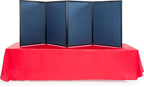 Displays2go 4 Panels, 96.5W x 36.5H Inches, Double Sided, Trade Show Presentation Board (TFRBL9636) by Displays2go