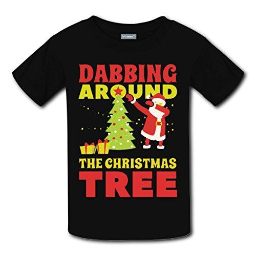 Lightning Dabbing Christmas Fashion] Unisex Costume T-Shirts for Boys - Kris Kringle Costumes