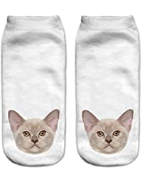 Doxi 3D Pattern Printed Crew Low Cut Ankle Socks Cute Harajuku Style