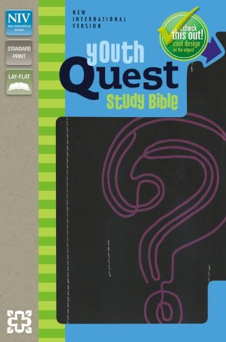 Download NIV, Youth Quest Study Bible, Imitation Leather, Black/Pink: The Question and Answer Bible pdf