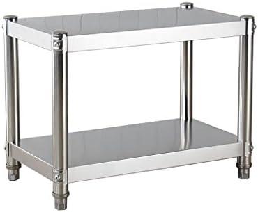 キッチンキャビネットラック2段ステンレス製電子レンジオーブンラック(4段フック付き)テーブルスタンド収納棚ブラケット(60cm、80cm、100cm) (サイズ さいず : 100cm)