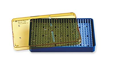"""Key Surgical PST-2100SB Plastic Sterilization Tray, 6.5"""" x 4"""" x .75"""" Base, Lid, and Silicone Finger Mat Insert"""