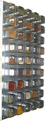Etiquetas 48 Bravada latas de especias Culinarian Magnetic Especiero Versa-Board