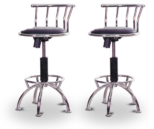 Man cave quot to adjustable chrome bar stools buy