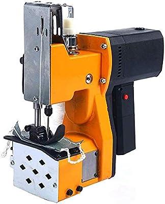 Drohneks Máquina de Coser portátil Máquina de Coser más cercana Bolsa de Embalaje eléctrica Costura Sellado para Sacos de Piel de Serpiente Tejida Bolsa de plástico de Papel de arroz (Amarillo): Amazon.es: