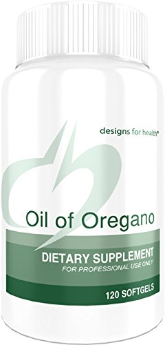 Designs for Health – Oil of Oregano – 60mg High Carvacrol, 120 Softgels