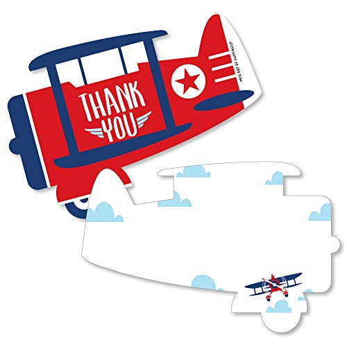 Taking Flight - Airplane - Shaped Thank You