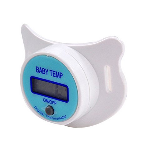 Digital Baby Pacifier Thermometer (Sealive Newborn Baby Soft Nipple Pacifier Thermometer Children Digital Temperature Baby Temp,Mouth Soother Healthy Safe Electronic Waterproof Temperature Check Meter LCD Display(1pc))