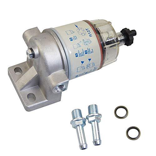 Conjunto de trampa de separador de agua con filtro de combustible Katsu Tipo R12T