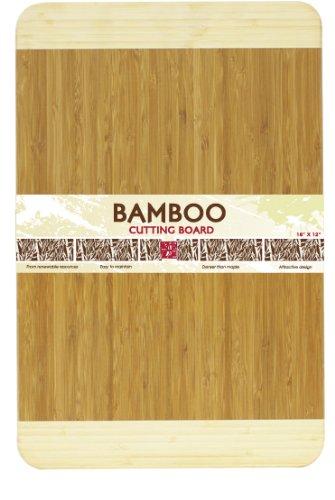 Home Basics Cutting Board, Bamboo, 18 by 12-Inch