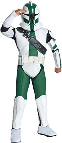 Rubie's Star Wars Clone Wars Child's Deluxe Commander Gree Costume and Mask, (Star Wars Clone Trooper Deluxe Child Costumes)