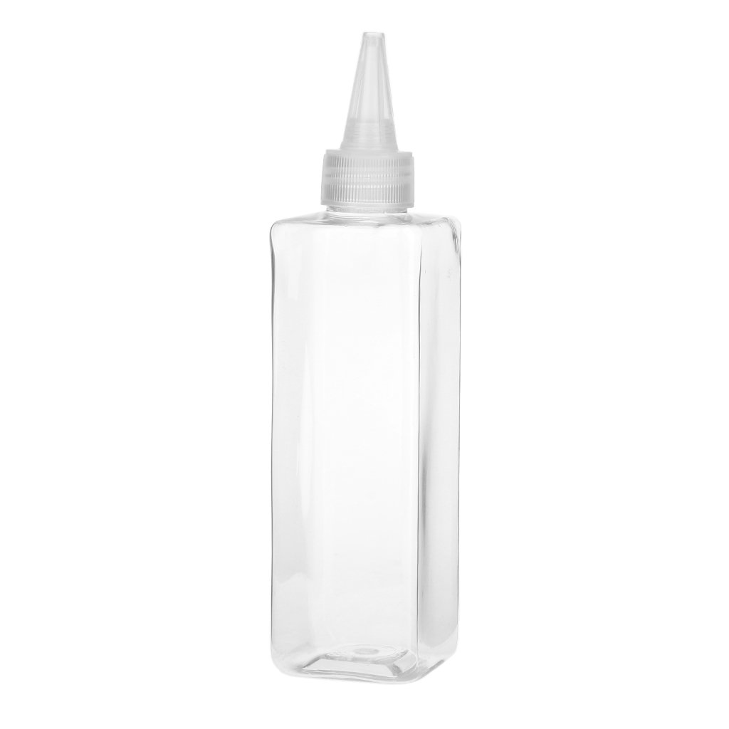 250ml Empty Refillable Square Bottle Pigment Ink Storage Bottle Container - Clear Generic AEQW-WER-AW137621