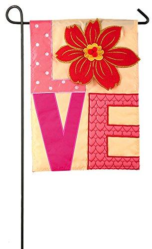 Evergreen Love Applique Garden Flag, 12.5 x 18 inches