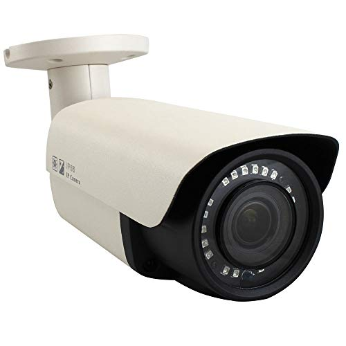 GW Security 8.0MP 4K (3840×2160) Sony CMOS 2.8-12mm Varifocal Zoom Outdoor Waterproof Onvif H.265 8MP Bullet PoE IP Camera