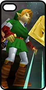 Link & The Tri Force Black Plastic Case for Apple iPhone 5 or iPhone 5s
