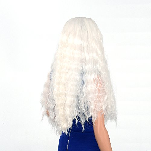 ra Synthetic Wig Real Natural For Women – Soft & Smooth, Tangle-Free Wavy Lace Front Wig, Comfortable & Adjustable For Perfect Fit–1001# Blonde 250D 22