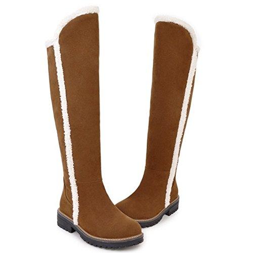Warm Yellow 86 Women COOLCEPT Lined Boots Zipper qw8SnxBf