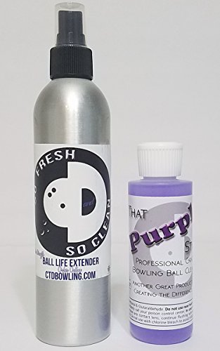 - So Fresh & So Clean Bowling Ball Life Extender | 4 oz Bottle of That Purple Stuff Bowling Ball Cleaner | Bowling Accessories