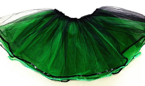 Cutie Collection Adult Green and Black Layered Tutu]()